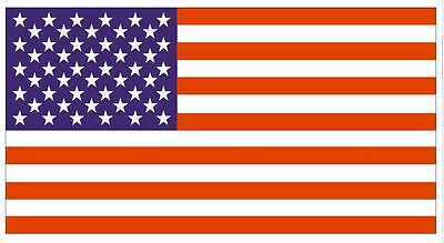 USA UNITED STATES OF AMERICA FLAG STICKER Decal  F01 US Flag American Flag