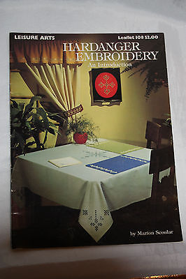 Hardanger Embroidery An Introduction Leisure Art Leaflet 108 1977