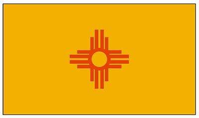 NEW MEXICO State Flag Sticker MADE IN THE USA F346