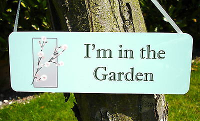 PERSONALISE IN THE GARDEN HANGING METAL SIGN PLAQUE Green Honeybee Gift Range