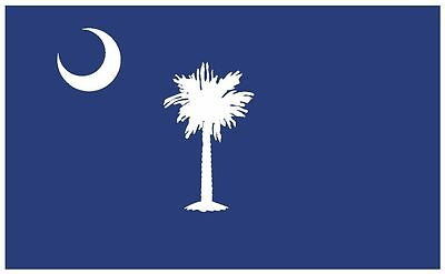 SOUTH CAROLINA Vinyl State Flag DECAL Sticker MADE IN THE USA F471