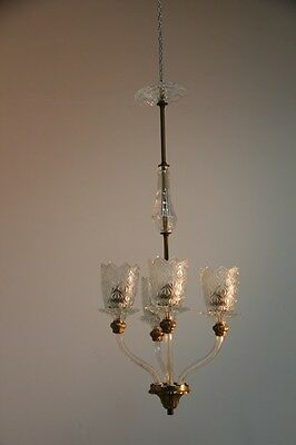 Engraved crystal chandelier attributed paolo Buffa 1950s