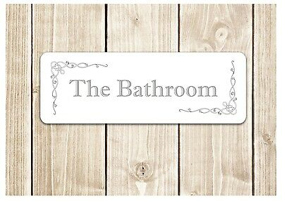 'THE BATHROOM' Door Sign Metal Plaque for Toilet or Bathroom