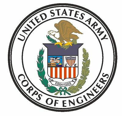 United States Army Corps Of Engineers Seal Vinyl Sign Decal Sticker