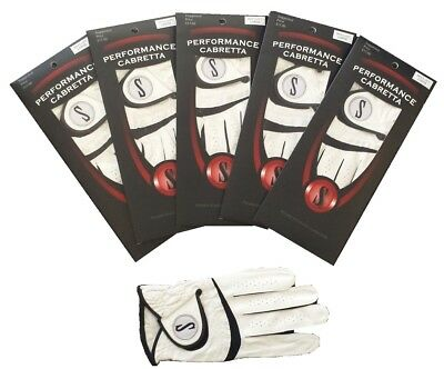 New 5 Pack Genuine Performance Cabretta S Leather Golf Glove - Up to XXX Large