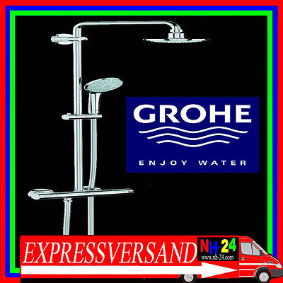 grohe euphoria rainshower thermostat dusche armatur. Black Bedroom Furniture Sets. Home Design Ideas