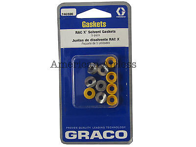Graco RAC X Solvent Gaskets 248936 Graco RAC X Tip Guard Solvent Gaskets 248-936