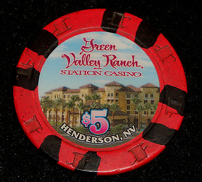 Green Valley Ranch $5.00 House Casino Chip Station Casino Henderson Nevada NICE