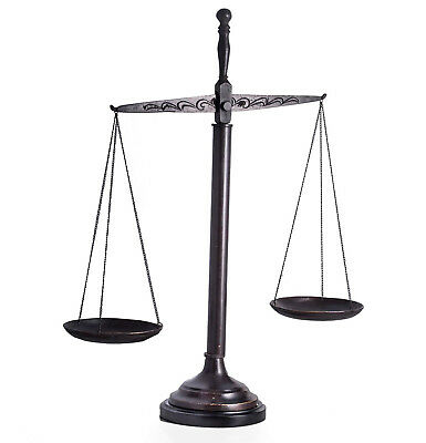 "Scales Of Justice Sculpture - 21.5""h - Lawyer - Legal"