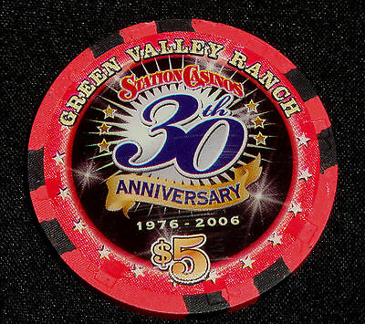 Green Valley Ranch $5.00 Casino Chip 30th Anniversary Henderson Nevada MINT $5