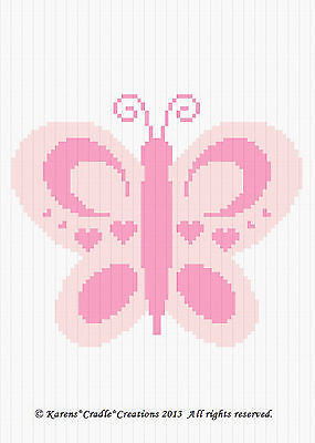 Crochet Patterns - PINK BUTTERFLY Baby Girl Afghan Pattern **EASY/BEGINNER