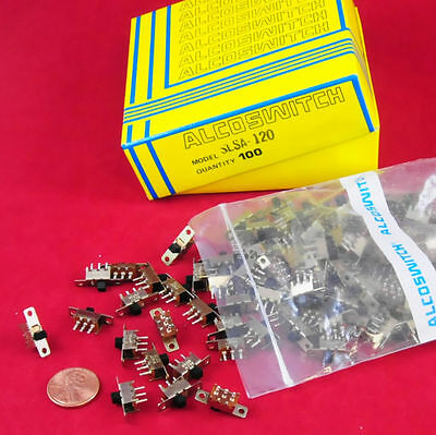500 Pc Lot - Alcoswitch / Te - Spdt Mini Slide Switch P/n Slsa-120