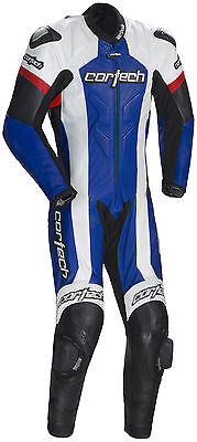 *Fast Shipping* Cortech Adrenaline (Blue/White) Leather 1-Piece Motorcycle Suit
