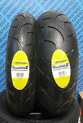 Coppia Gomme Moto 120/70/17 + 180/55/17 Dunlop Spmax Qualifier 2 Ii Dot18 2° New