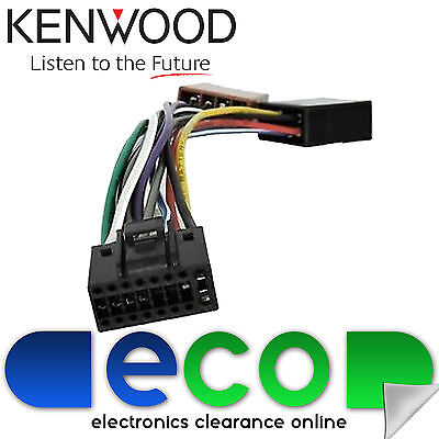 Kenwood 16 Pin To ISO Car Stereo Radio Power Harness Lead Connector Cable Loom