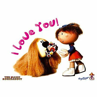 Magic Roundabout Dougal & Florence Postcard Picture Retro TV Show 100% Official