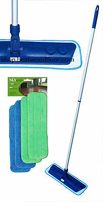 Microfiber Mop Kit with 4 Pads Swivel Mop Base Best Value! Free Shipping!