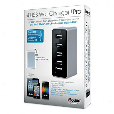 dreamGEAR (ISOUND-2106) i.SOUND 4 USB Wall Charger Pro - power adapter NEW