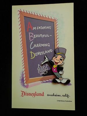 Disney Pin DLR Dateline: Disneyland 1955 Art Corner Postcard-Jiminy Cricket Le
