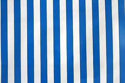 Oilcloth by the metre Mexico Tablecloth Blue Stripes Design 1.2m wide fabric