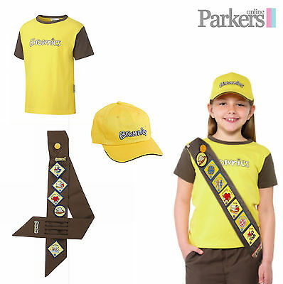 New Official Brownies Set Includes Short Sleeve T Shirt, Sash And Brownies Cap