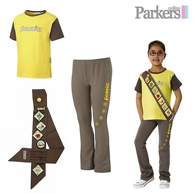 New Official Brownies Set Includes Short Sleeve T Shirt, Leggings And Sash