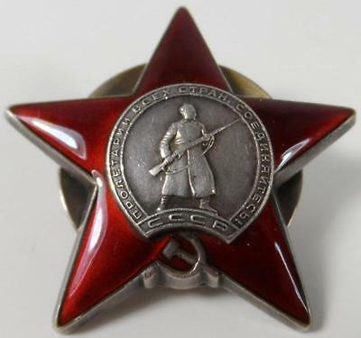 Ww2 Russian Soviet Ussr Order Red Star Enameled Sterling Silver Military Award