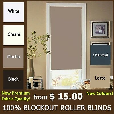 MODERN 100% BLOCKOUT ROLLER BLINDS - CHOOSE YOUR COLOR and SIZE. TOP QUALITY!