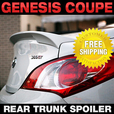 Rear Trunk Lip Spoiler Lid Airoparts Black For HYUNDAI 2009-2016 Genesis Coupe