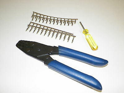 Crimper Pic Tool + Terminal Kit For Oem Mate-N-Lock On Older Harley And Others