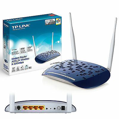 ROUTER MODEM ADSL2+ WIRELESS ACCESS POINT WIFI 300Mbps TPLINK TD-W8960N vers. 5