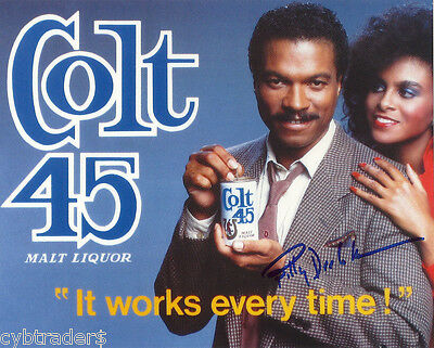 Colt 45 Beer Billy Dee Williams & Girl Refrigerator / Tool Box Magnet  Man Cave