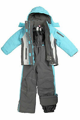 Dopodopo European Style Girls Ski/Snow Wear Jacket/Pants in Blue/Grey Size 3-10