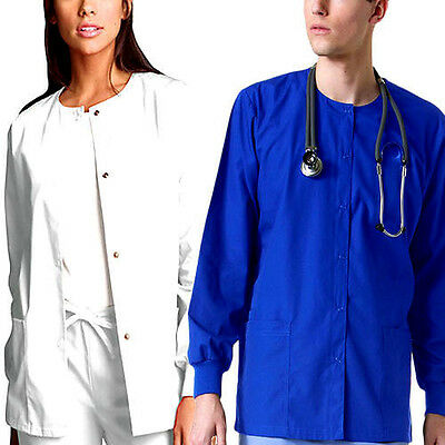 Medical Nursing Dental Warm up Jackets Lab Coat Scrub Top For Women Men Unisex