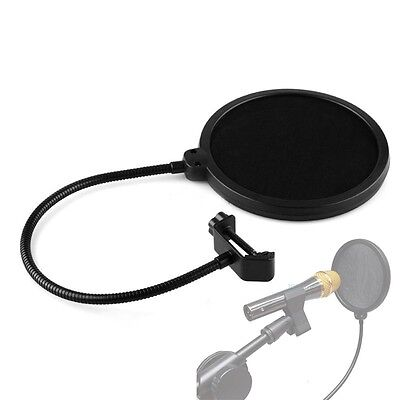 Studio Recording Double Layer Microphone Mic Wind Screen Pop Filter Mask Shield