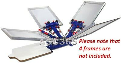 4 Color 1 Station Silk Screen Printing Press Fine Tuning T-shirtScreen Printer