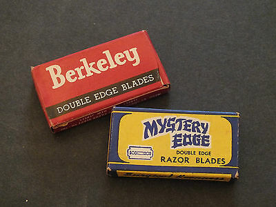 Pair Of Vintage Razor Blades and Boxes Berkeley and Mystery Edge
