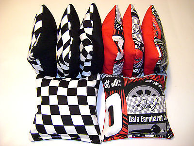 8 CORNHOLE NASCAR DALE EARNHARDT JR #8 BEAN BAG BAGGO RACE FLAGS TAILGATE TOSS
