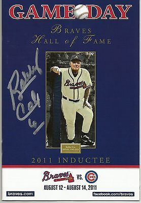 Bobby Cox Atlanta Braves Signed Autographed 2011 Game Day Program HOF COA