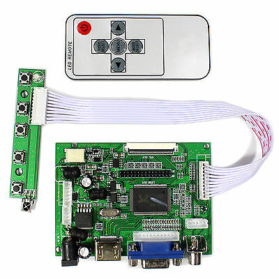 HDMI VGA 2AV Reversing LCD Driver Board with remote for 8inch 800x600 LCD panel