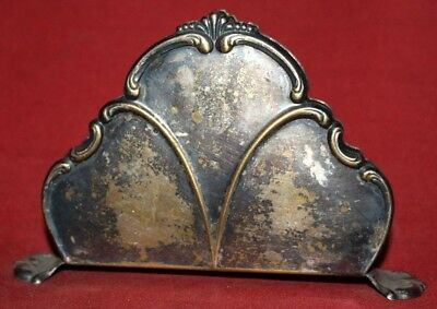 Antique Art Deco Silver Plated Napkin Holder