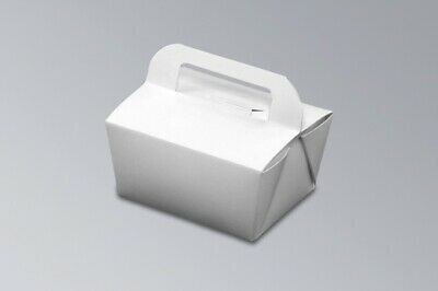 100x, 32oz Chinese Take Out / To Go Boxes, Microwavable, Party Gift Boxes, White