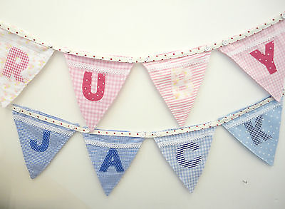 PERSONALISED BUNTING - Powell Craft Alphabet letter flags