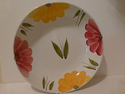 Huge Roma Italy Hand Painted Ceramic Wall Decor Centerpiece Serving Bowl  (S3