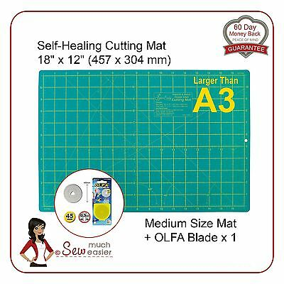 Self-Healing Cutting Mat   A3 and OLFA 45mm Blade for rotary cutter spare blades