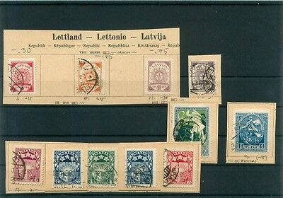 i3015 Lettland, Briefmarken Lot Classic ~1918