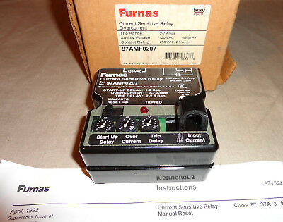 Furnas 97Amf0207 Current Sensitive Relay Overcurrent New