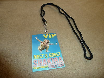 Shakira The Sun Comes Out World Tour Vip Pass Backstage All Access Meet & Greet!