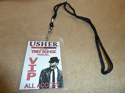 Usher Raymond Omg Tour W/ Trey Songz Vip All Access Backstage Pass With Lanyard!