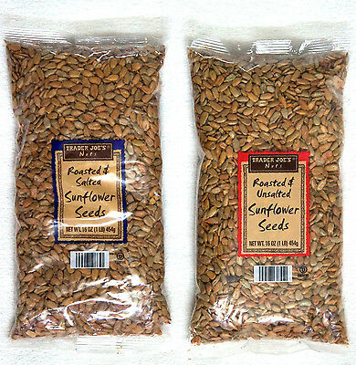 Trader Joe's Nuts Roasted Sunflower Seeds:UNSALTED or SALTED or IN SHELL Snack